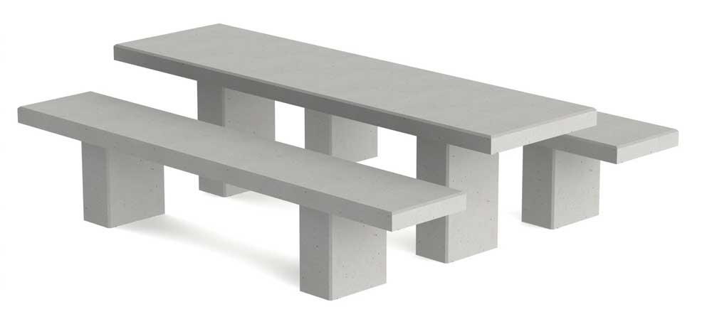Dalles De Table Et Banc Beton De La Lomme