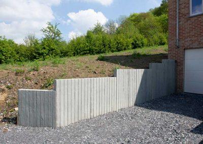 Beton met structuur (hout)